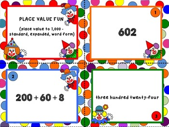 Place Value to 1,000 - standard, expanded, word form