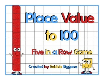Place Value to 100: Five in a Row Game