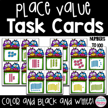 Task Cards--Place Value  to 100 Scoot!