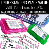 Place Value to 100 Task Cards 1.NBT.B.2