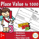 Place Value to 1000 worksheets and activity bundle