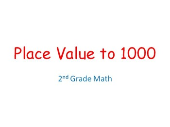 Place Value to 1000 PowerPoint