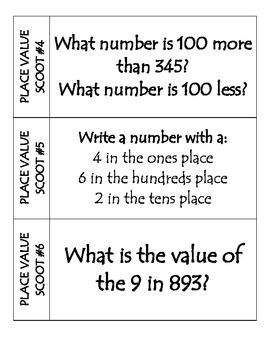 Place Value to 1,000 Scoot