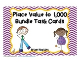 Place Value to 1,000 Task Card Bundle - Common Core