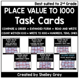 Place Value to 1000 Task Card Bundle (best-suited to secon