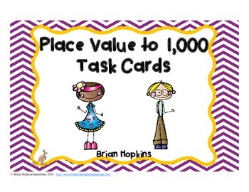 Place Value to 1,000 Task Cards