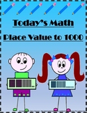 Place Value to 1000 - Today's Math - Practice Worksheets