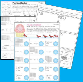 Place Value to 1,000 Worksheets and Games