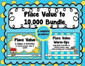 Place Value to 10,000 Bundle