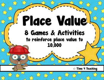 Place Value to 10,000 - Eight Games & Activities