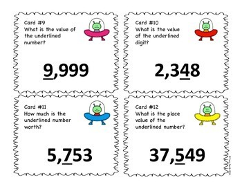 Place Value to 10,000 SCOOT Game - Grades 3-4