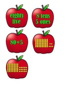Place Value to 120 - Apples and Trees