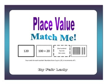 Place Value to 120 - Match Me! Game