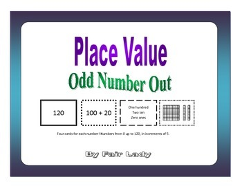 Place Value to 120 - Odd Number Out Game