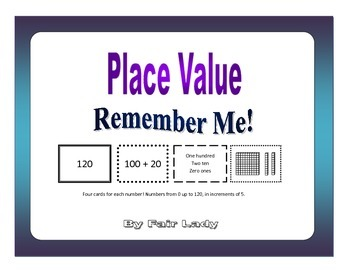 Place Value to 120 - Remember Me! Game