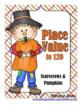 Place Value to 120 - Scarecows and Pumpkins