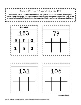 Place Value to 199 Flip Flaps