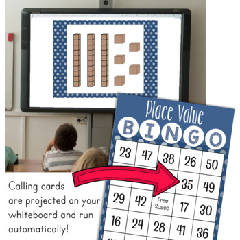 Place Value to 50 Bingo Game for Powerpoint