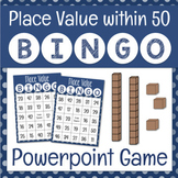 Place Value Math Bingo Game for Powerpoint Numbers to 50