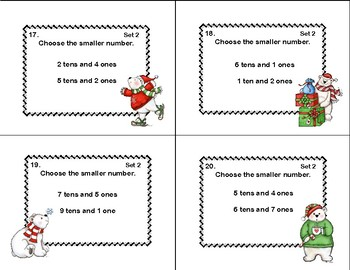 Place Value to 99- 2 CCSS-Second Grade Math Practice Task Cards