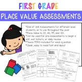 Place Value to 20, 40, 99 & 120 Assessments