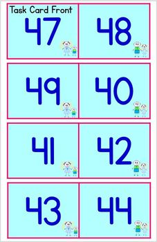 Place Value to 99 - Ways to Show a Number Board and Task Cards for Centers etc.