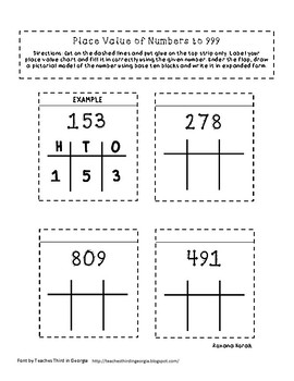 Place Value to 999 Flip Flaps