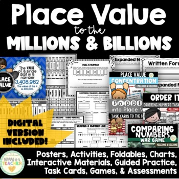 Place Value to Billions:Interactive Materials for Expanded/Standard/Written Form