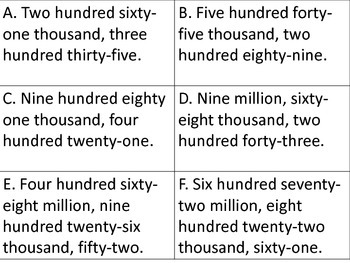 Place Value to Hundred Millions