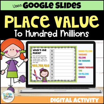 Place Value to Hundred Millions for Google Classroom