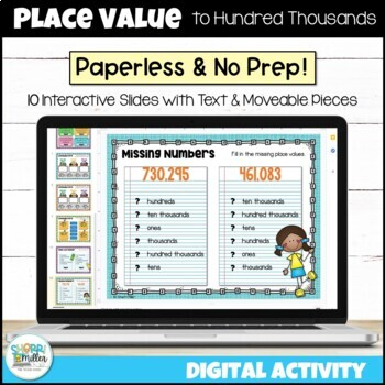 Place Value to Hundred Thousands for Google Classroom