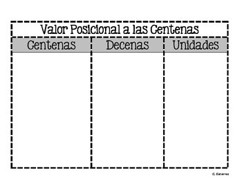 Place Value to Hundreds Mat-bilingual