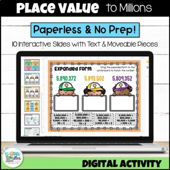 Place Value to Millions for Google Classroom