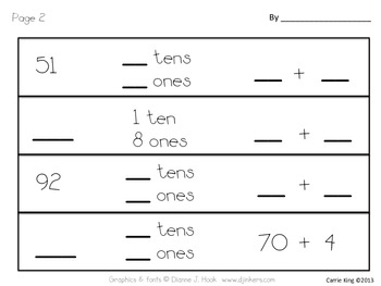 Place Value to Ten Read and Write the Room