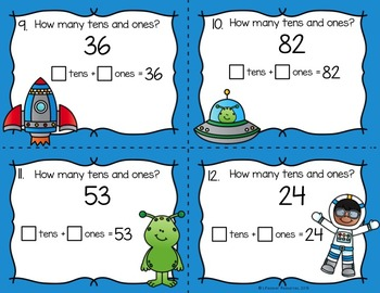 Place Value to Tens Game and Printables