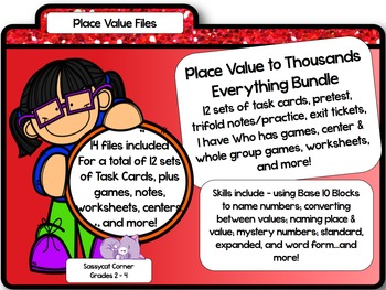 Place Value to Thousands Everything Activities Bundle