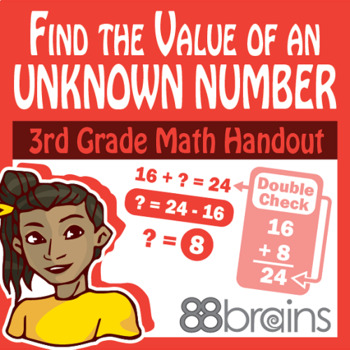 Place Value to Thousands: Find the Value of an Unknown Number pgs 39 - 42 (CCSS)