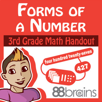 Place Value to Thousands: Forms of a Number pgs. 3 - 4 (CCSS)