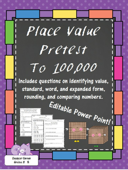 Place Value to Hundred Thousands Pretest