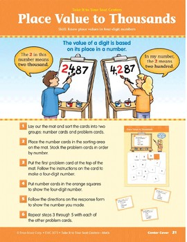 Place Value to Thousands (Take It to Your Seat Centers Common Core Math)