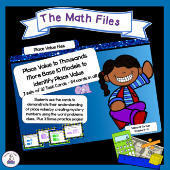 Place Value to Thousands Using Base 10 Blocks Task Cards  Set 1