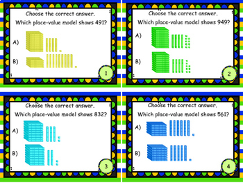 Place Value to Thousands Using Base 10 Blocks Set 2