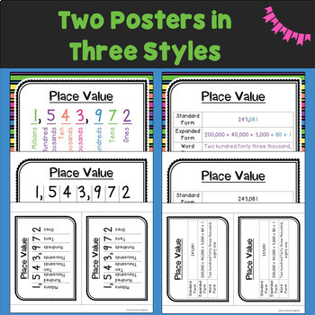 Place Value to one Million Task Cards (Scoot)