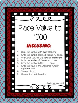 Place Value to the 1000 Review