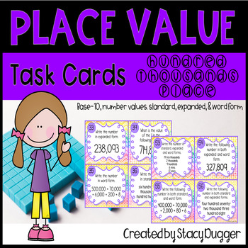 Place Value Place Task Cards Hundred Thousands Place