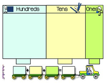 Place Value to the Hundreds:  A Handy Mat for Building Numbers to the Hundreds