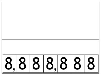 Place Value to the Millions Flip Book