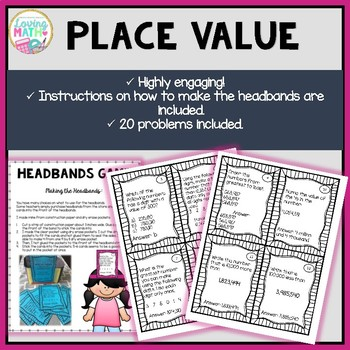 Place Value to the Millions - Headbands Place Value Game