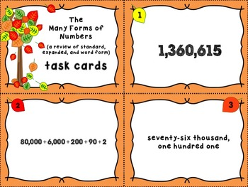 Place Value to the Millions - Number Forms