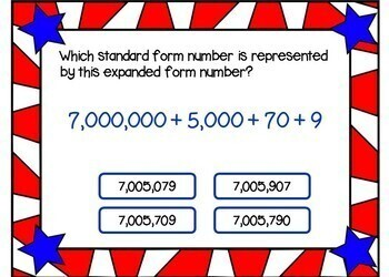 Place Value to the Millions Place - BOOM Cards! (24 Cards)